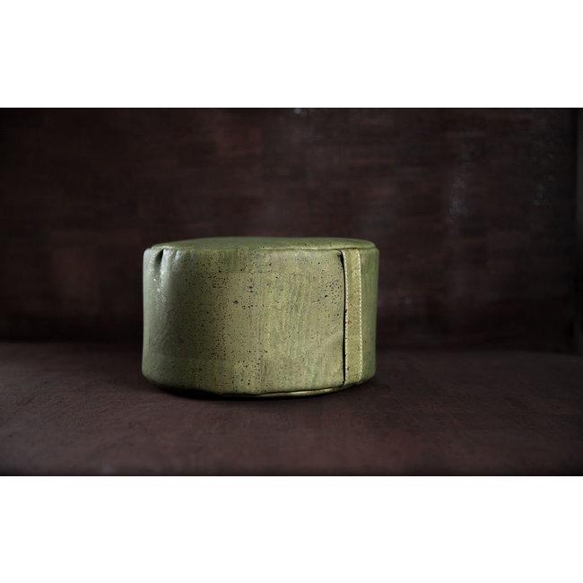 Captain Cork YOGA MEDITATION CUSHION GREEN: cork leather yoga meditation pillow, pillow from vegan leather