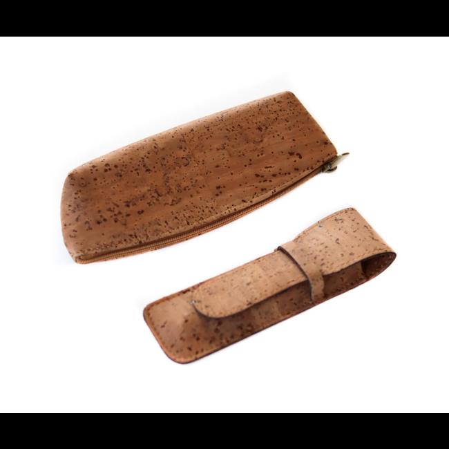 Captain Cork QUIN - CORK pencil case TOBACCO