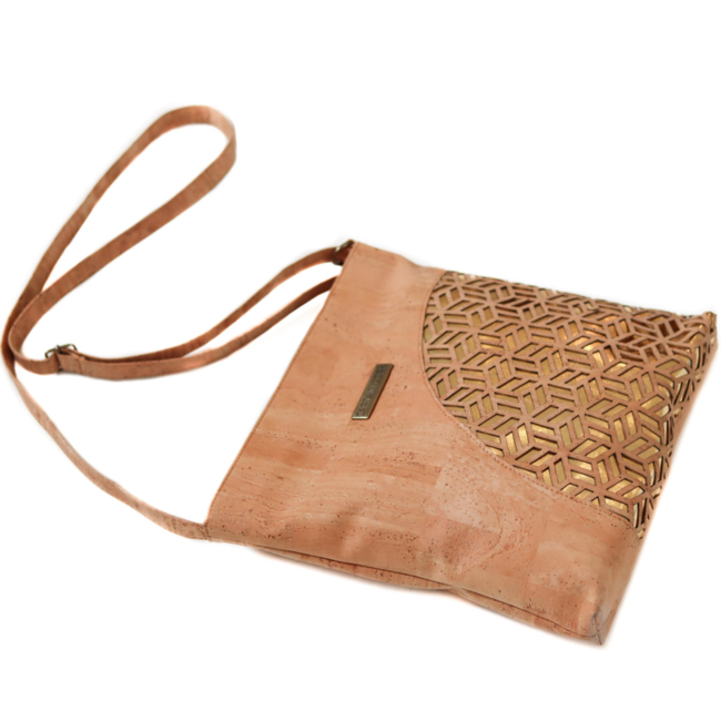 Captain Cork GEMMA - CORK Shoulder TOTE Bag GOLD/NATUREL