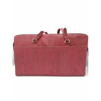 Captain Cork DOMINIQUE LARGE - Laptop Business bag  WINE RED (LAPTOP 17/18 INCH)