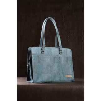Captain Cork DOMINIQUE - Laptop Business Tas TURQUOISE (LAPTOP 17/18 INCH)