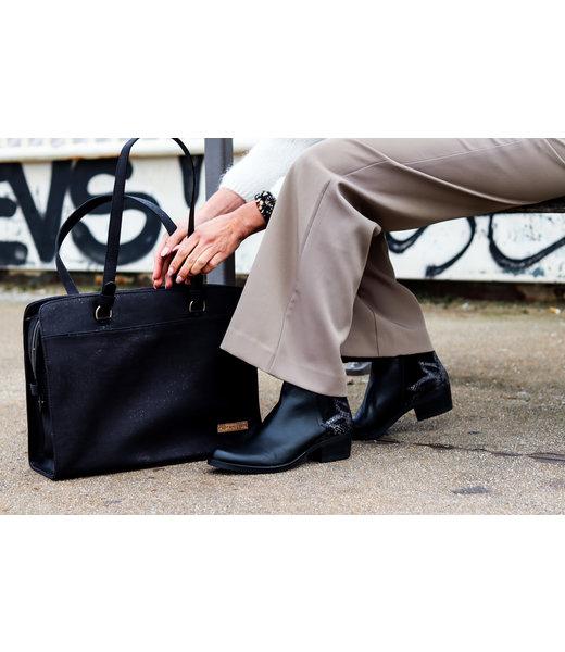 DOMINIQUE - Laptop Business bag BLACK