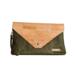 Captain Cork GRETCHEN_ CORK envelop clutch in ARMY GREEN