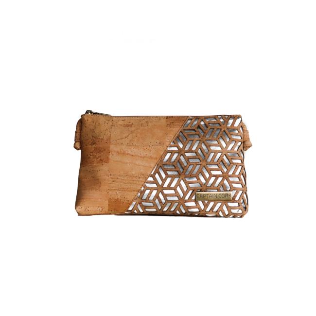 Captain Cork GLENDA - CORK shoulder bag SILVER/ NAtURAL_ AVAILABLE IN JANUARI