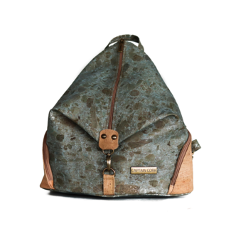 Captain Cork MARIANNE - Bold Back pack MARBLE TURQUOISE
