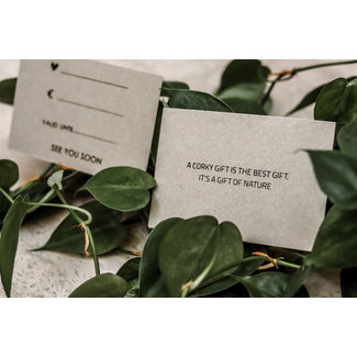 Captain Cork ONLINE gift Voucher / Cadeaubon