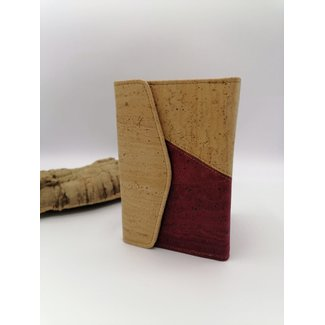 Captain Cork MARIT-CORK Ladies Wallet DUO COLOR WIJNROOD