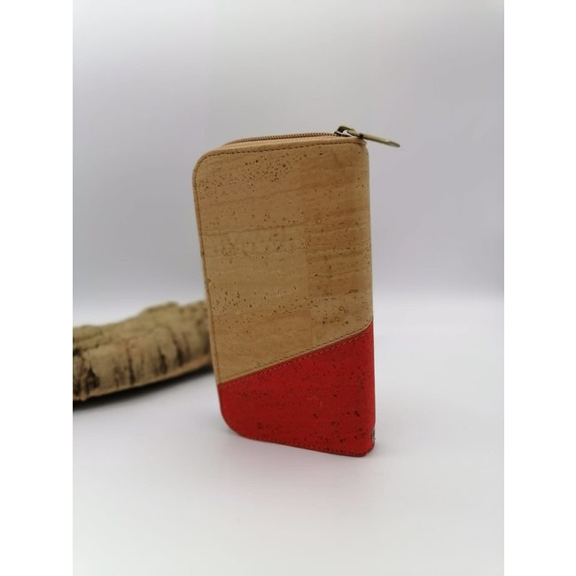 Captain Cork MARIE_CORK ladies wallet DUO COLOR RED