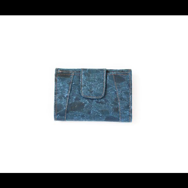 Captain Cork MARIT_TURQUOISE _ portefeuille EN LIEGE: portefeuille en liège composé de 9 pièces avec support de changement de cuir en liège