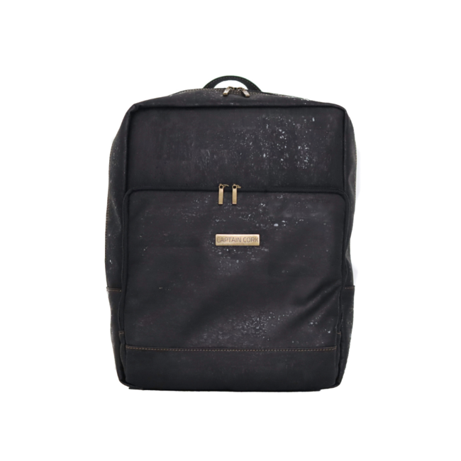 Captain Cork SENNE - Business Laptop Backpack BLACK