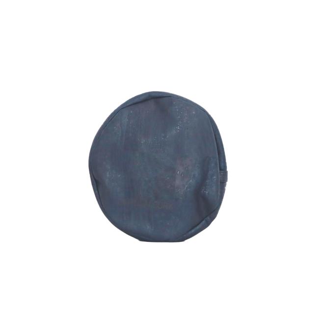 YOGA MEDITATION CUSHION DARK BLUE: cork leather yoga meditation pillow, pillow from vegan leather