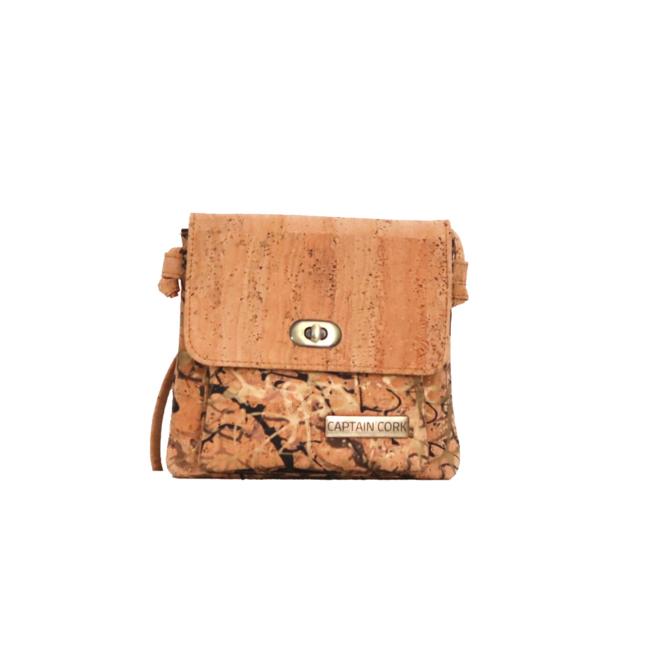 Captain Cork Gwenny - CORK shoulder bag reversed FOREST GOLD