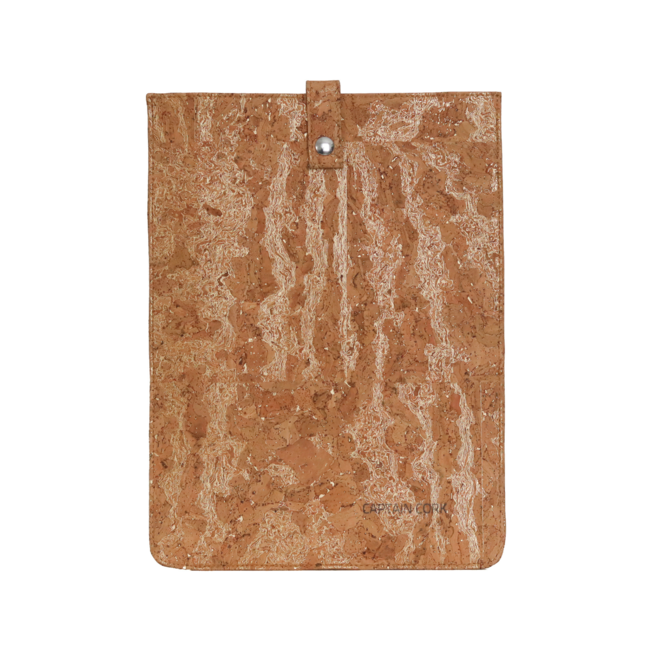Captain Cork GOLDEN_SMALL_CORK laptopsleeve: cork leather sleeve for laptop with seal