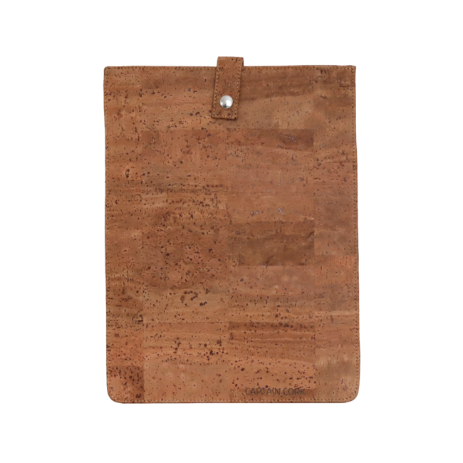 Captain Cork TOBACCO_SMALL_CORK laptopsleeve: cork leather sleeve for laptop with seal