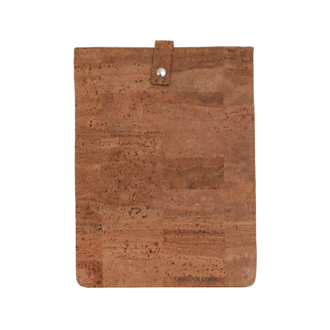Captain Cork TOBACCO-_LARGE_CORK laptopsleeve: cork leather sleeve for laptop with seal