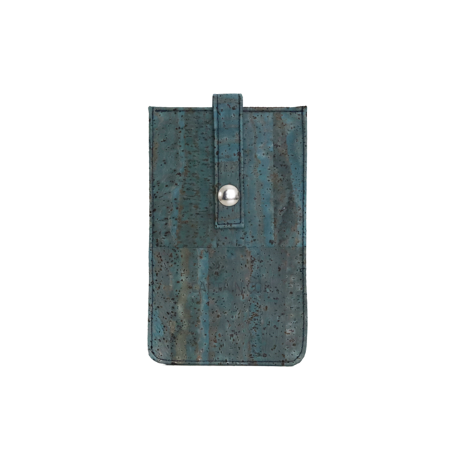 Captain Cork TURQUOISE_CORK_PHONE SLEEVE:  eco leather cover for phone, phone case from vegan leather