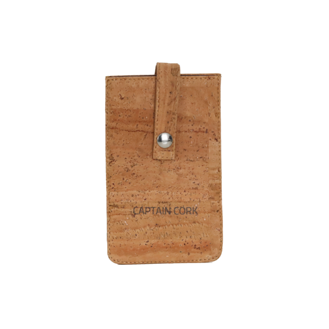 Captain Cork NATURAL_CORK_PHONE SLEEVE: eco leather cover for phone, phone case from vegan leather
