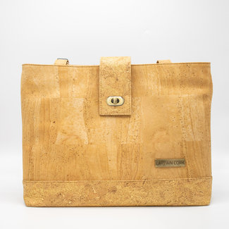 Captain Cork GIGI - LIEGE Shoulder BAG NATURAL avec GOLDEN TOUCH