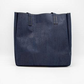 Captain Cork ODETTE_NAVY BLUE_CORK tote bag