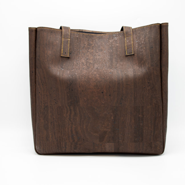 Captain Cork ODETTE - Stylish Tote bag DARK BROWN