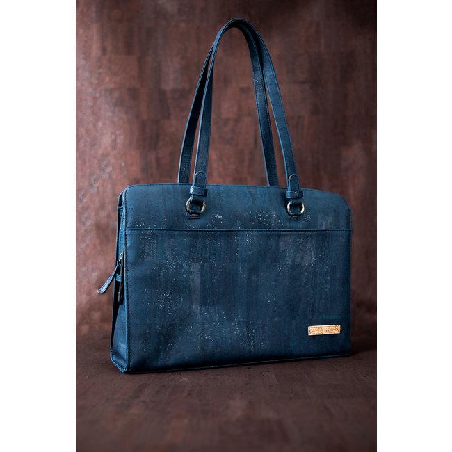 Captain Cork DOMINIQUE LARGE _NAVY BLUE Laptop Business bag
