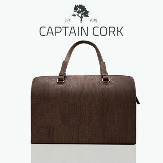 Captain Cork DOMINIQUE LARGE _DARK BROWN Laptop Business bag