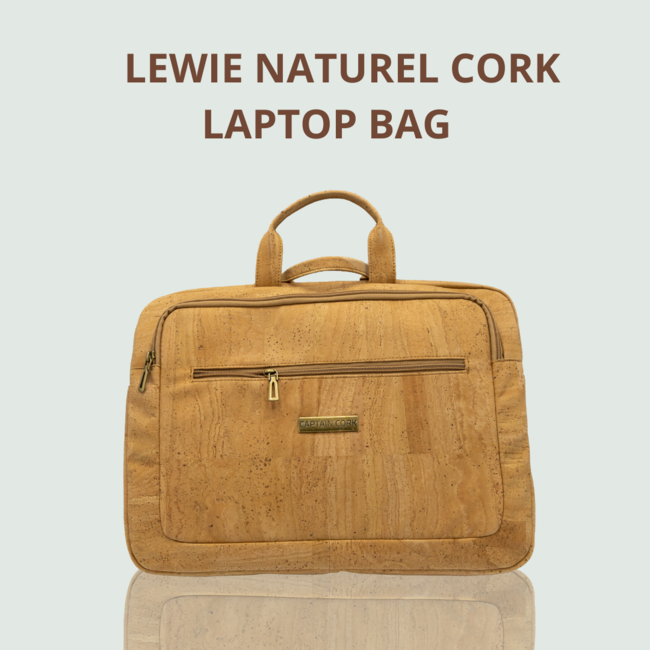 Captain Cork LEWIE_NATUREL_KURKEN laptoptas