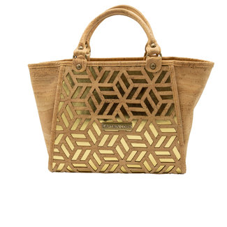 Captain Cork GEORGIE -  GOLDEN / NATUREL CORK purse
