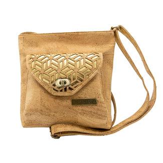 Captain Cork GERALDINE - CORK shoulder bag GOLD/NATUREL