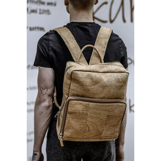 Captain Cork SENNE - Business Laptop Backpack out of CORK  NATURAL