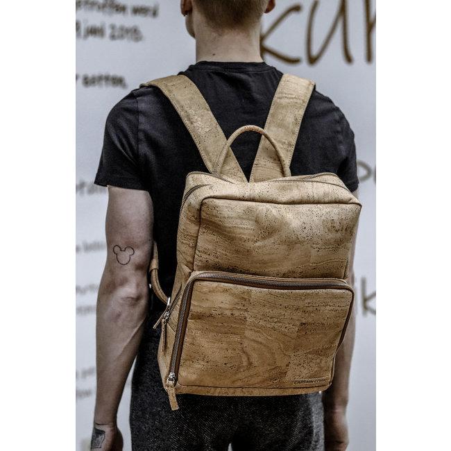 Captain Cork SENNE - Business Laptop Backpack out of CORK  NATURAL