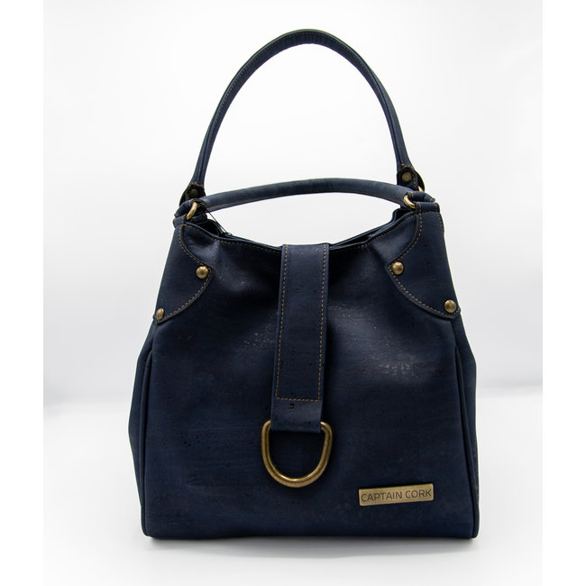 Captain Cork LAURA_NAVY BLUE hand bag out of CORK