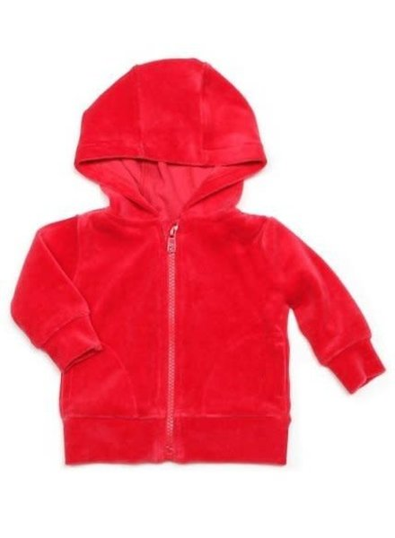 OUTLET // hoodie velours - rood