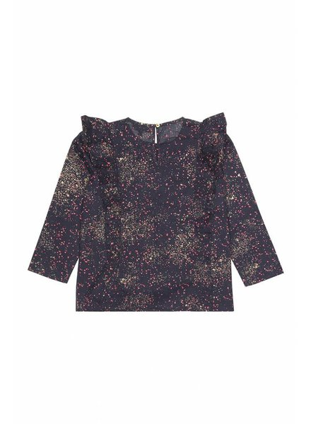 blouse BETTE - black iris sprinkle