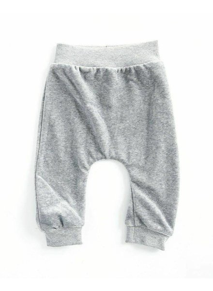 OUTLET // baggypants velours - melee grijs