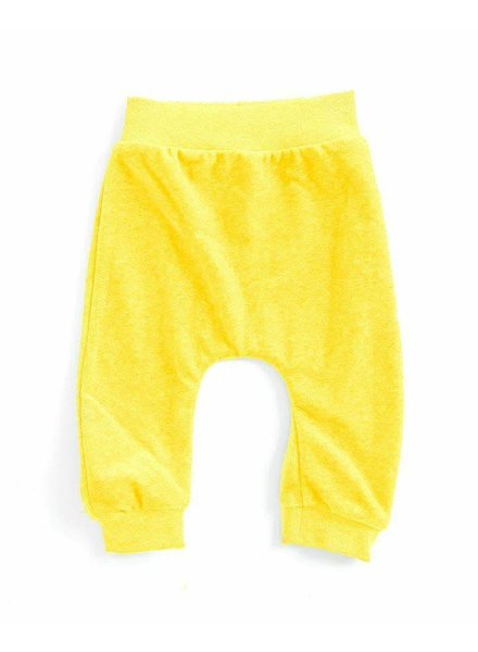 OUTLET // baggypants velours - geel