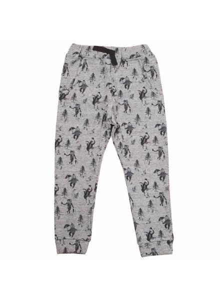 OUTLET // trousers - gris chiné animeaux