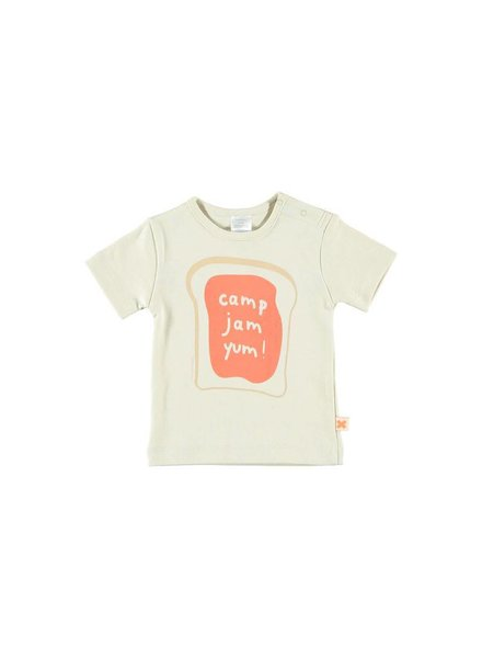 OUTLET // t-shirt camp - jam - yum! - beige
