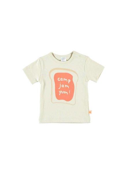 OUTLET // t-shirt camp - jam - yum! - beige