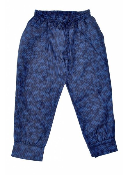 OUTLET // trousers Chips drop print indigo