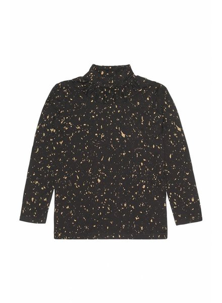 OUTLET // top FAYENNE - jet black flakes gold