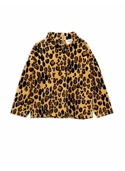 sweater Leopard Velour - beige
