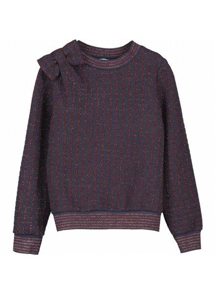 sweater - Zariel navy bordeaux