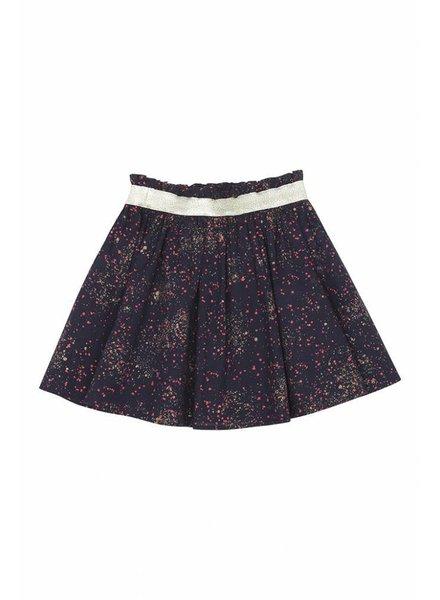 skirt MARIA - black iris sprinkle