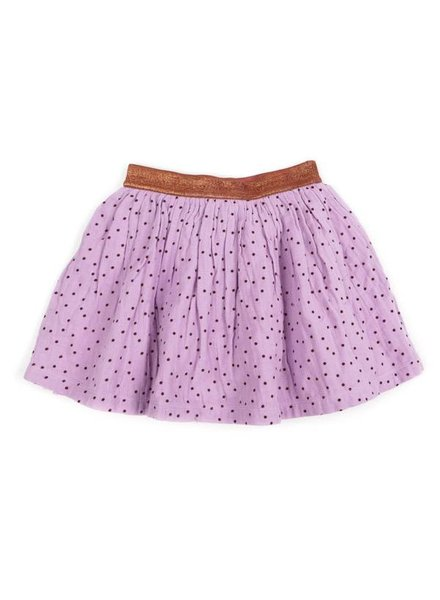 OUTLET // skirt ADELE - soft lila / brick dots