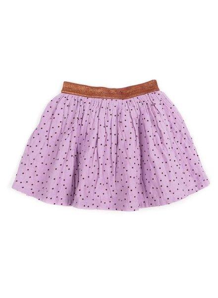 skirt ADELE - soft lila / brick dots