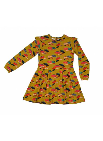ruffle dress Umbrella - yellow