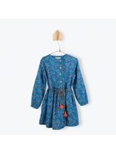 robe Assymetrique - sergé imprimé verger
