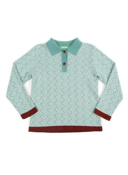 polo DAMIAN - marshmallow/sage green