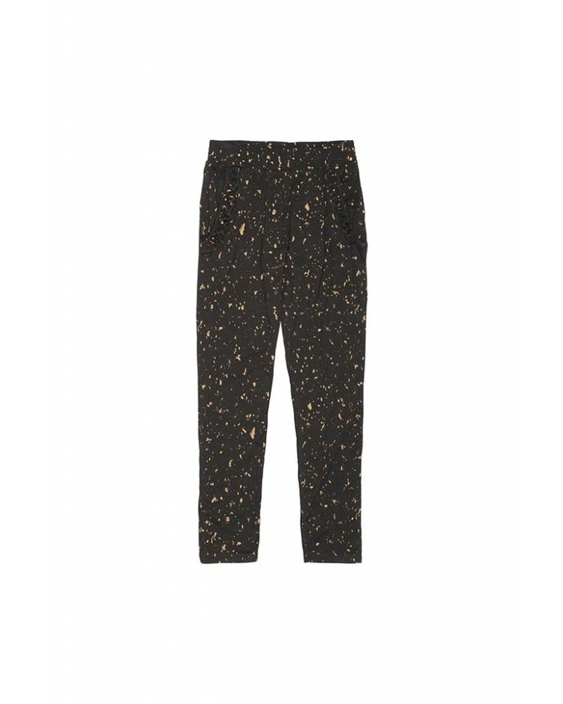 pants LUCY - jet black flakes gold